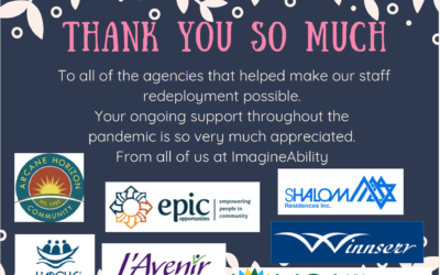 A special Thank You to the agencies…